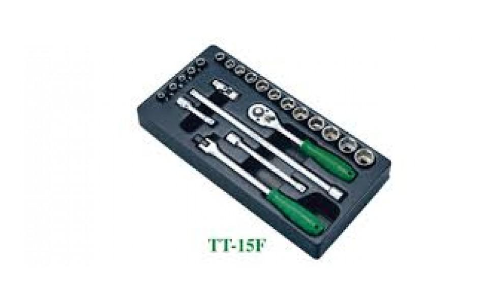 Įrankių kompl. 3/8`` HANS (TT-15F)