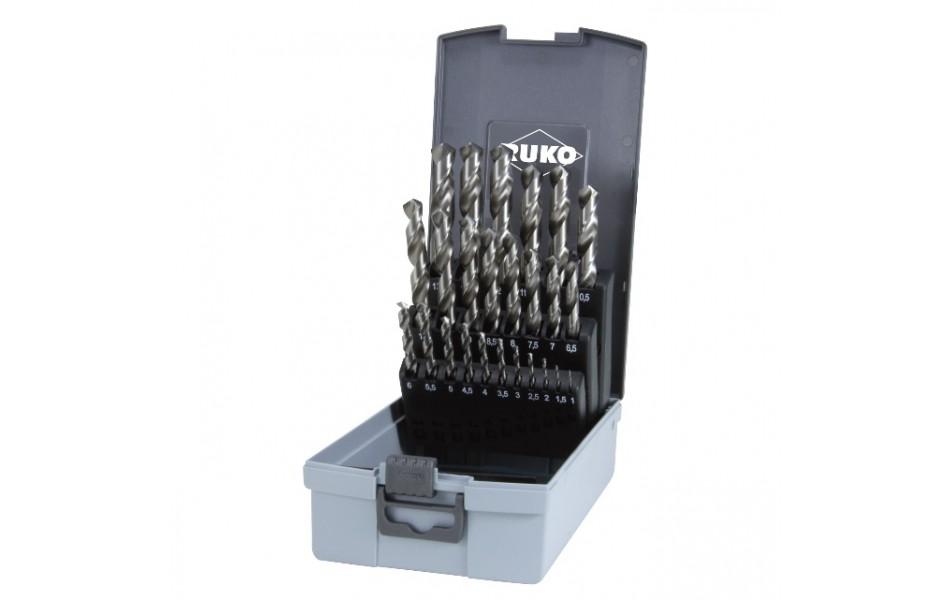 Grąžtų met.rink. DIN338 HSS-G 1.0-13.0mm (25 vnt.) RUKO (214215RO)