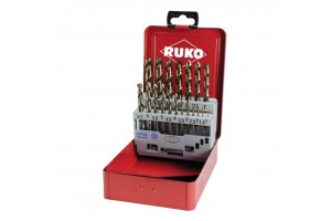 Grąžtų met.rink. DIN338 HSSE-Co5 1.0-10.0mm (19 vnt.) RUKO (215214)