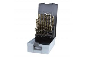 Grąžtų met.rink. DIN338 HSSE-Co5 1.0-13.0mm (25 vnt.) RUKO (215215RO)