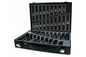 Grąžtų met.rink. DIN338 HSS-G 1.0-10.0 x0.5mm (170 vnt.) RUKO Terrax (A214200)
