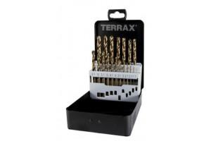 Grąžtų met.rink. DIN338  HSSE-Co5 1.0-10.0mm (19 vnt.) RUKO Terrax (A215214)