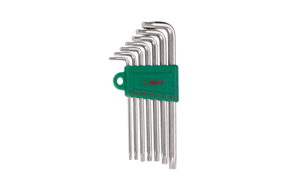 L formos Torx raktų T10-T40 komplektas (7 vnt.) HANS (16744-7T)