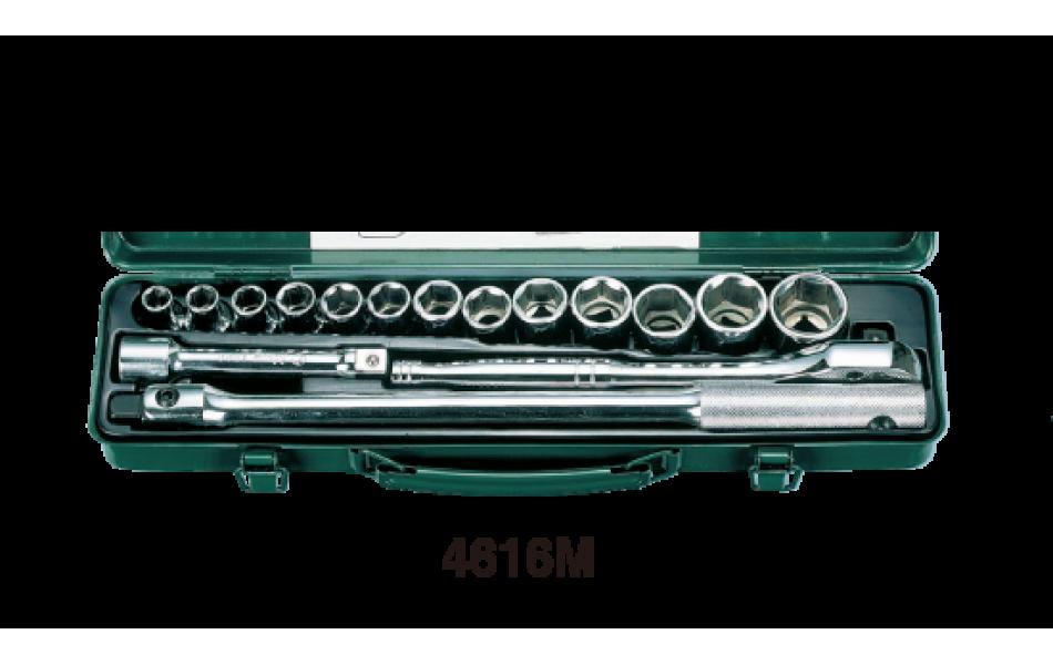 Įrankių kompl. 1/2`` (16vnt) HANS (4616M)