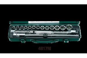 Įrankių kompl. 1/2`` (17vnt) HANS (4617M)