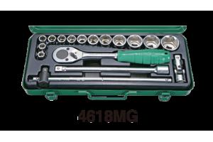Įrankių kompl. 1/2`` col. (17vnt) HANS (4618AG)