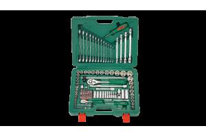 Įrankių kompl. 1/4`- 1/2` (124vnt) HANS (TK-124)
