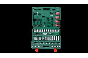 Įrankių kompl. 1/4`- 1/2` (106vnt) HANS (TK-106)