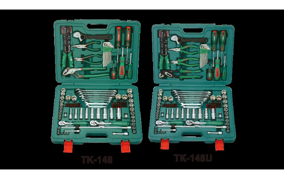 Įrankių kompl. 1/4`- 3/8` (148vnt) HANS (TK-148)