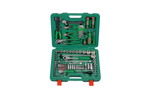 Įrankių kompl. 1/4`- 1/2` (158vnt) HANS (TK-158E)
