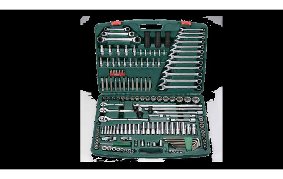 Įrankių kompl. 1/4`, 3/8`, 1/2` (163vnt) HANS (TK-163)